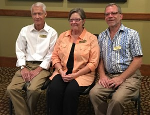New Board Members: (L to R): Terry Feathers, Kay Beattie & Ron Wudarsky